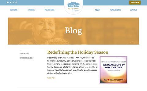 Screenshot of Blog maryryderhome.org - Blog   Mary Ryder Home - captured Jan. 9, 2016