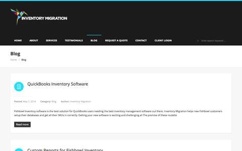 Screenshot of Blog inventorymigration.com - Blog  | Inventory Migration - captured Sept. 30, 2014