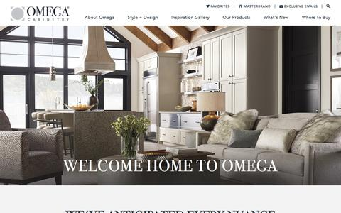 Screenshot of Home Page omegacabinetry.com - Custom Cabinets – Bathroom & Kitchen Cabinetry – Omega - captured Dec. 3, 2017