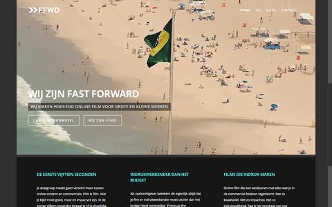 Screenshot of Home Page ffwdfilm.com - FFWD: High-End Online Film - captured Feb. 9, 2016
