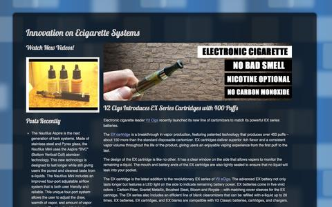 Screenshot of Home Page innovx.com - Innovation on Ecigarette Systems | - captured Sept. 16, 2014