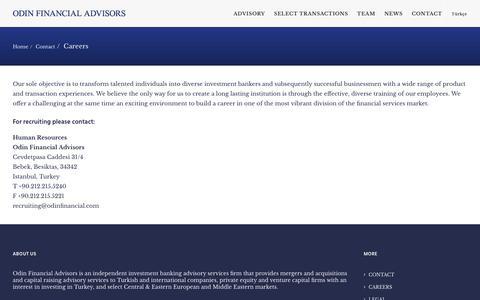 Screenshot of Jobs Page odinfinancial.com - Careers - Odin Financial Advisors - captured Oct. 25, 2017