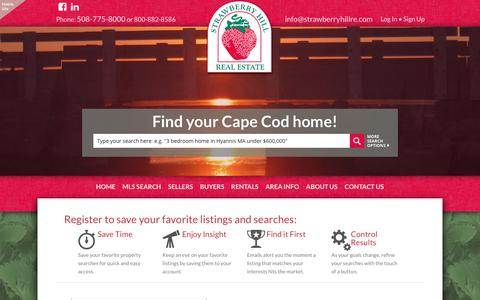 Screenshot of Signup Page strawberryhillre.com - Strawberry Hill Real Estate - captured Oct. 25, 2017