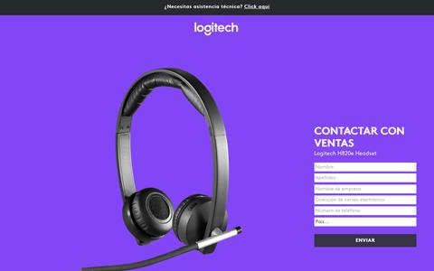 Screenshot of Landing Page logitech.com - Logitech H820e Headset | Contact Us - captured Sept. 30, 2017