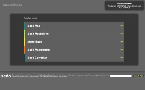 Screenshot of Home Page base-online.de - base-online.de-This website is for sale!-base-online Resources and Information. - captured June 27, 2018