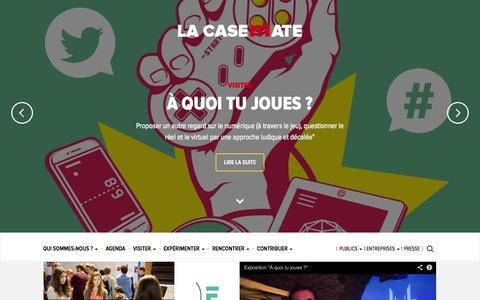 Screenshot of Home Page lacasemate.fr - La Casemate, CCSTI Grenoble - captured Sept. 22, 2014