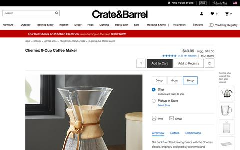 Chemex 8-Cup Coffee Maker | Crate and Barrel