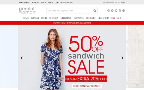 Screenshot of Home Page gemini-woman.co.uk - Gemini | Women's Clothing | New Season Online - captured July 20, 2015