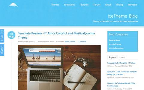 Screenshot of Blog icetheme.com - Blog - captured Sept. 18, 2014
