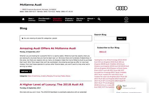 Screenshot of Team Page mckennaaudi.com - people Blog Post List | McKenna Audi - captured Oct. 18, 2017