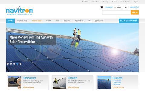 Screenshot of Home Page navitron.org.uk - Navitron - captured June 11, 2017