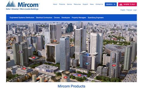 Screenshot of Home Page mircom.com - Mircom | Safer, Smarter, More Livable Buildings - captured Dec. 3, 2016