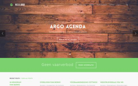 Screenshot of Home Page wsr-argo.nl - W.S.R. Argo - captured Oct. 7, 2014