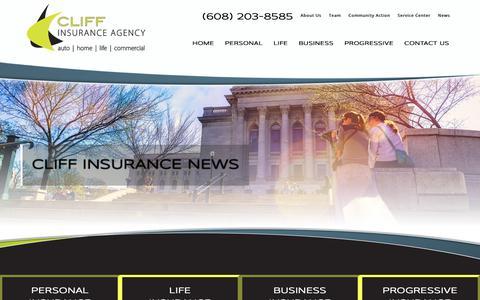 Screenshot of Press Page cliffinsurance.com - Insurance Updates | Cliff Insurance Agency - captured Dec. 15, 2018