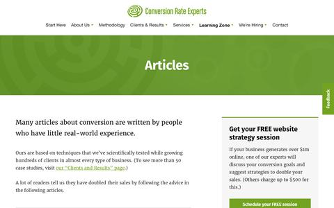 Articles | Conversion Rate Experts