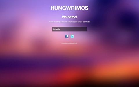 Screenshot of Home Page hungwrimos.com - HungWrimos - captured Sept. 30, 2014