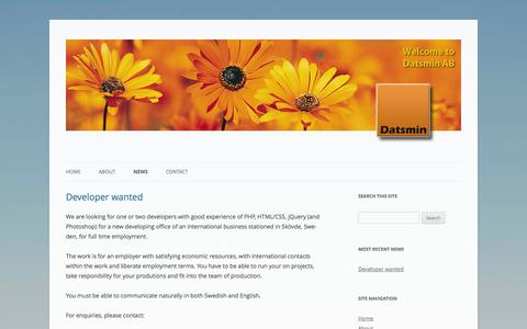 Screenshot of Press Page datsmin.com - News | Datsmin - captured Oct. 5, 2014