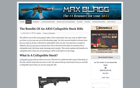 Screenshot of Blog maxblagg.net - Blog Archives - Max Blagg - captured March 2, 2018