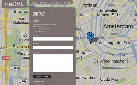 Screenshot of Contact Page neovl.nl - Contact   neOVL - captured Oct. 7, 2014