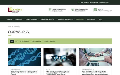 Screenshot of Case Studies Page expertlancing.com - Our Works – Expertlancing - captured Nov. 11, 2018