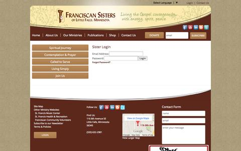 Screenshot of Login Page fslf.org captured Oct. 6, 2014