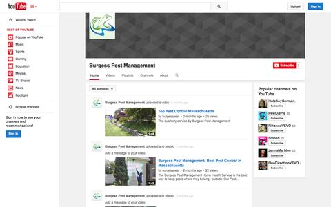 Screenshot of YouTube Page youtube.com - Burgess Pest Management  - YouTube - captured Oct. 23, 2014