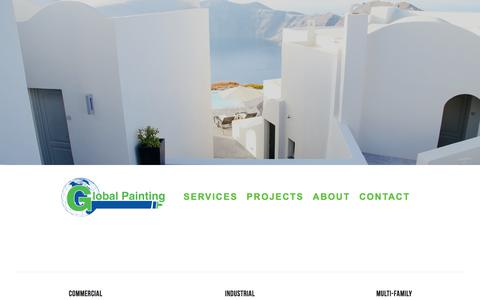 Screenshot of Home Page global-painting.com - Global Painting - captured Aug. 9, 2017