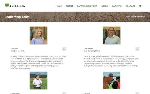Screenshot of Team Page generaenergy.com - Leadership Team – Genera Energy - captured Nov. 3, 2018
