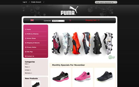 Screenshot of Home Page toopanddaley.co.uk - Puma Football Shoes Store | Cheap Puma Shoes Online | Puma Shoes On Sale - captured Nov. 21, 2017