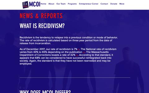 Screenshot of Press Page themcoi.org - MCOI   NEWS & REPORTS - captured Oct. 17, 2018