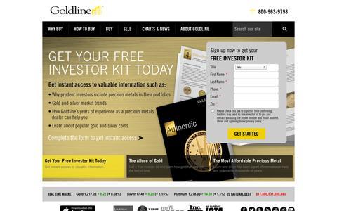 Screenshot of Home Page goldline.com - Goldline - captured Oct. 8, 2014
