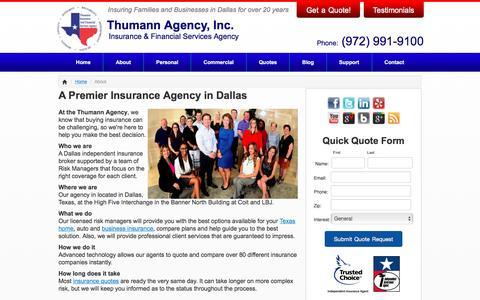 Welcome to the Thumann Agency in Dallas, Texas.