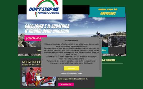 Screenshot of Blog dontstopme-travel.it - don't stop me | Blog - captured Nov. 23, 2016