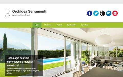 Screenshot of Menu Page orchideaserramenti.com - Orchidea Serramenti | Serramenti e infissi :: Brescia - captured Nov. 30, 2016