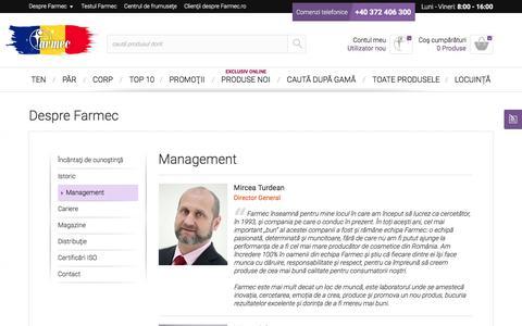 Screenshot of Team Page farmec.ro - Management - captured Nov. 24, 2016