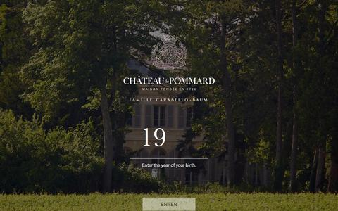 Screenshot of Login Page chateaudepommard.com - My account – Château de Pommard - captured March 17, 2018