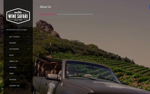 Screenshot of About Page lasafaris.com - About Us - Malibu Wine SafarisMalibu Wine Safaris - captured Nov. 3, 2014