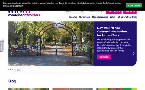 Screenshot of Blog mhm.org.uk - Mental Health Matters   Blog   Blog - captured Oct. 22, 2018