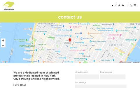 Screenshot of Contact Page altny.com - contact : alternatives - captured Nov. 12, 2018