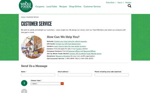 Customer Service | Whole Foods Market