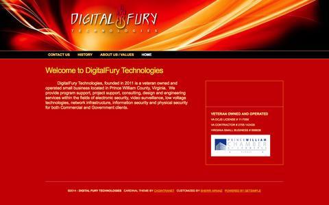 Screenshot of Home Page digitalfurytech.com - Welcome to DigitalFury Technologies < Digital Fury Technologies - captured Oct. 5, 2014