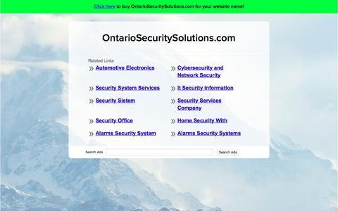 Screenshot of Home Page ontariosecuritysolutions.com - OntarioSecuritySolutions.com - captured Sept. 21, 2018