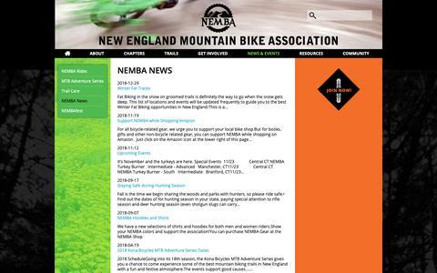 Screenshot of Press Page nemba.org - NEMBA News | NEMBA - captured Nov. 21, 2018