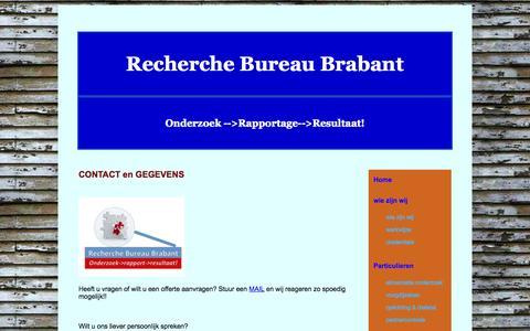 Screenshot of Contact Page recherchebureaubrabant.com - RBB contact - captured Oct. 26, 2014