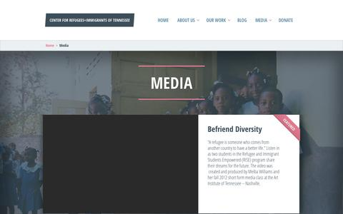 Screenshot of Press Page centerforrefugees.org - Center for Refugees+Immigrants of Tennessee - captured Oct. 2, 2014