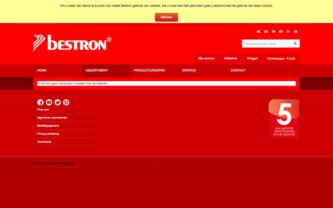 Screenshot of Products Page bestron.com - Bestron - captured Oct. 10, 2017