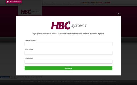 Screenshot of Login Page hbc-system.com - Get started with smart repairtools from HBC System - captured May 11, 2017