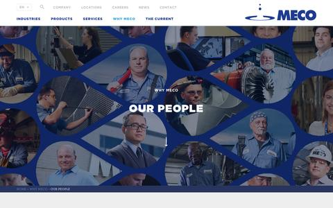 Screenshot of Team Page meco.com - Our People Are The Difference | MECO - captured May 26, 2017