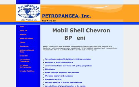 Screenshot of Services Page globaloil.co - Petroleum Supplier Inc - captured Oct. 2, 2014