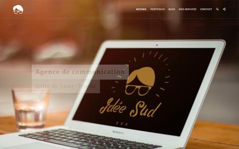Screenshot of Home Page ideesud.com - Communication - CrŽation de sites internet - St-Tropez - captured Nov. 13, 2015